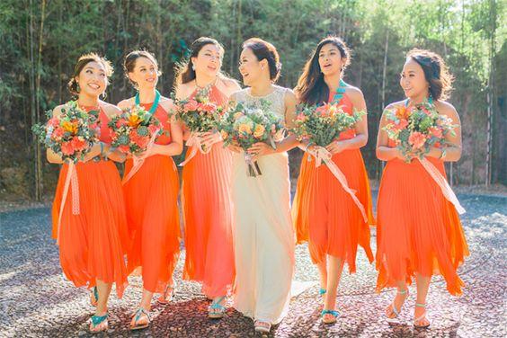 12 ý tưởng kết hợp màu sắc trong tiệc cưới năm 2016