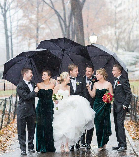 Ứng phó với tình huống đám cưới ngay ngày mưa