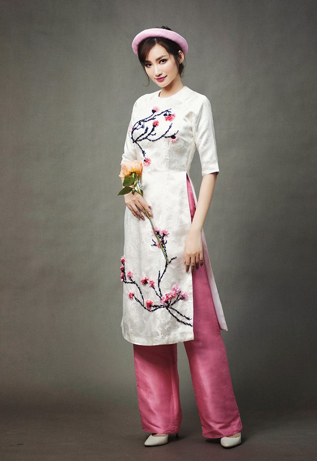 áo dài gấm