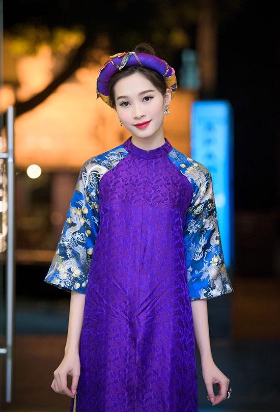áo dài gấm đơn giản