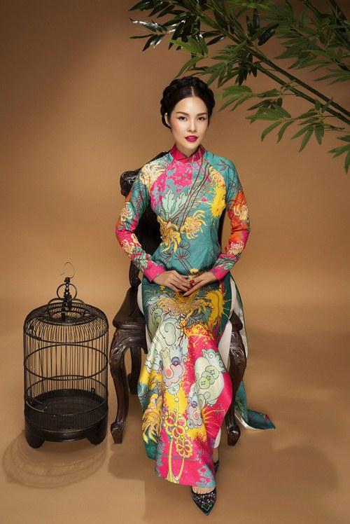 áo dài gấm tuyệt đẹp