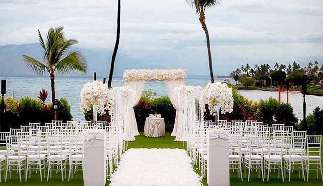 tiệc cưới cưới tại resort, khu nghỉ mát
