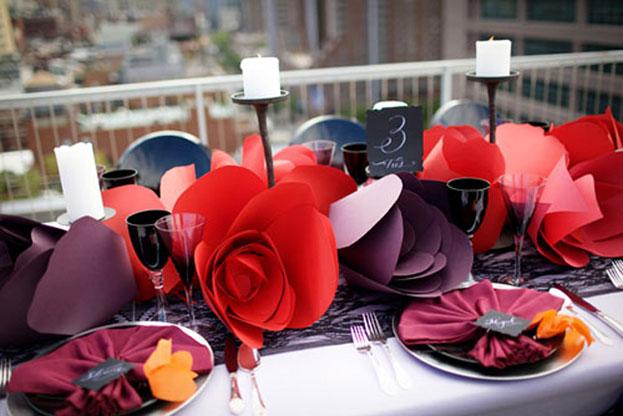 Trang trí tiệc cưới độc đáo, ấn tượng với Hoa giấy