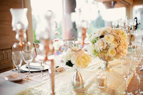 bàn tiệc cưới sang trọng