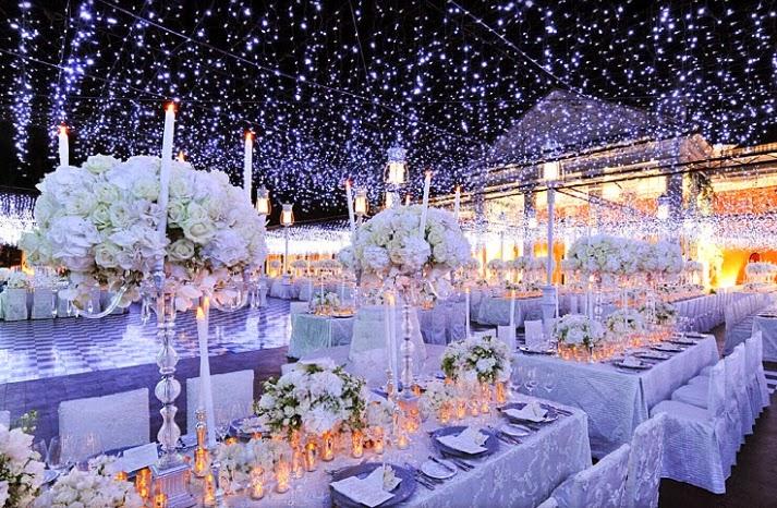 trang trí tiệc cưới bông tuyết