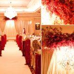 Mang sắc đỏ vào không gian tiệc cưới mùa đông nồng nàn.