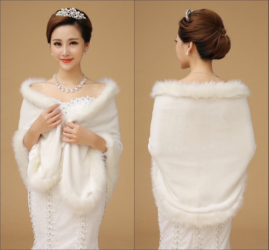 váy cưới mùa đông ấm áp