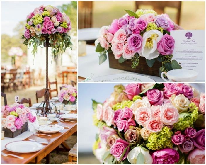 hoa hồng trang trí tiệc cưới