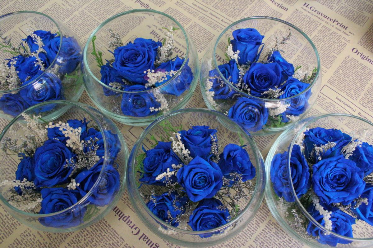 hồng xanh trang trí tiệc cưới