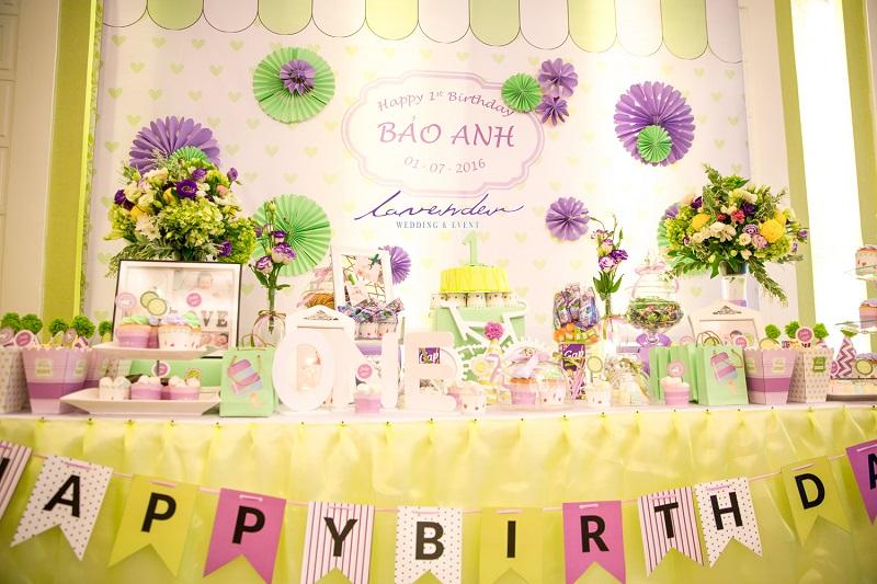 Lưu ý khi trang trí tiệc sinh nhật cho bé.