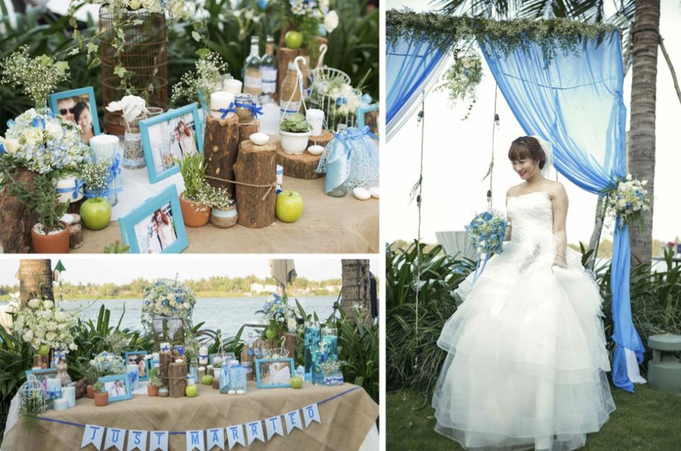 Trang trí tiệc cưới ngoài trời đẹp như cổ tích