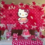 Trang trí tiệc sinh nhật cho bé gái chủ đề mèo Kitty