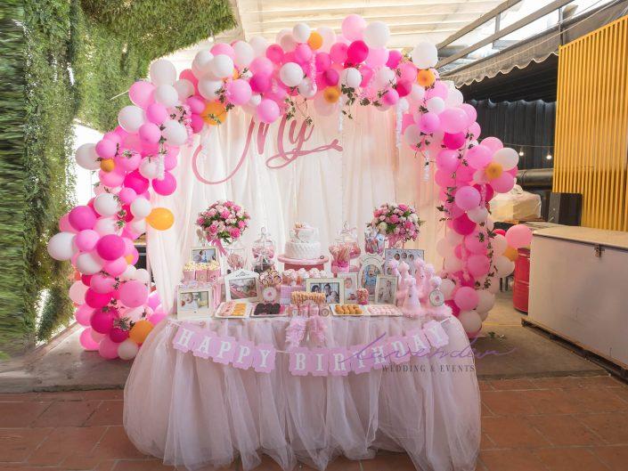 Trang trí tiệc sinh nhật cho bé My 2018- Thảo Điền- Sài Gòn