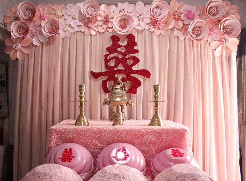 trang trí bàn thờ gia tiên đúng lễ nghi vào ngày cưới 2