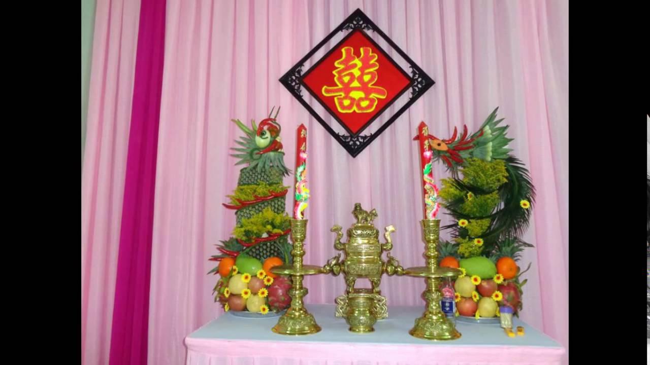 trang trí bàn thờ gia tiên đúng lễ nghi vào ngày cưới 3