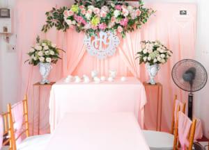 Cọ Wedding mang đến một dịch vụ trang trí gia tiên tối giản